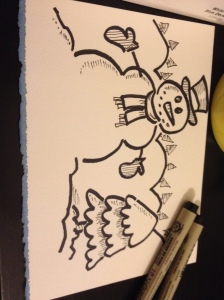 snowman with pens3