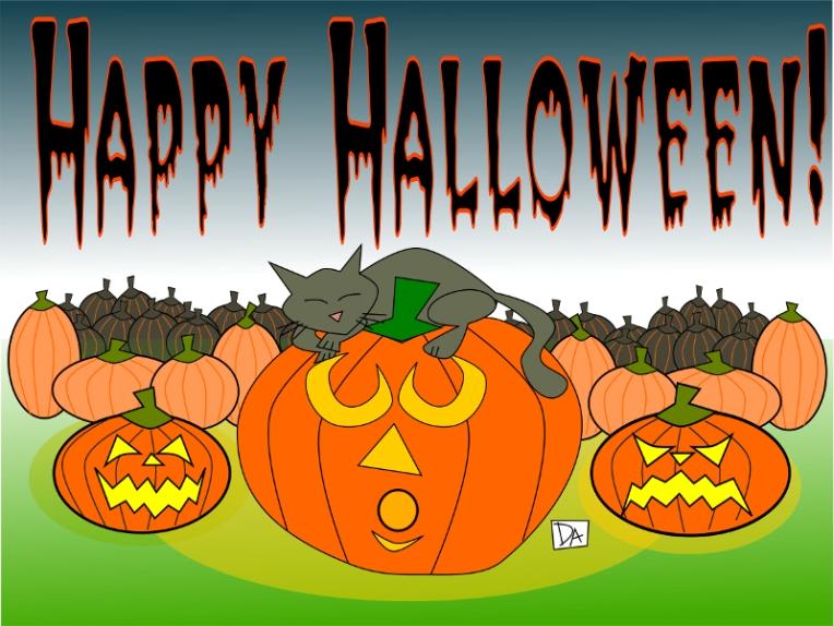 cat and pumpkin4 web