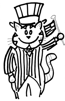 coloring page uncle cat1