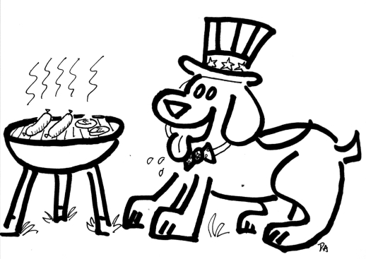 coloring page uncle dog1