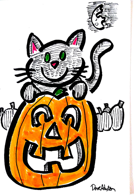 cat and pumpkin1