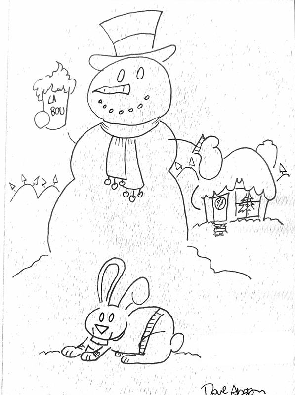 snowman and bunny1 web