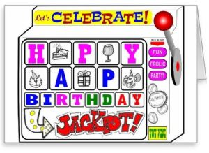 Hit the Birthday Jackpot Greeting Card _ Zazzle