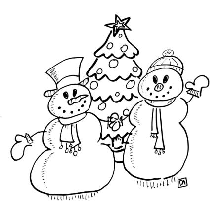 xmas snowpeople1