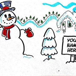 snowman with name1