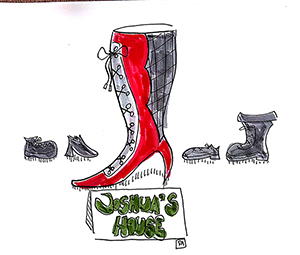 random cartoons shoe2