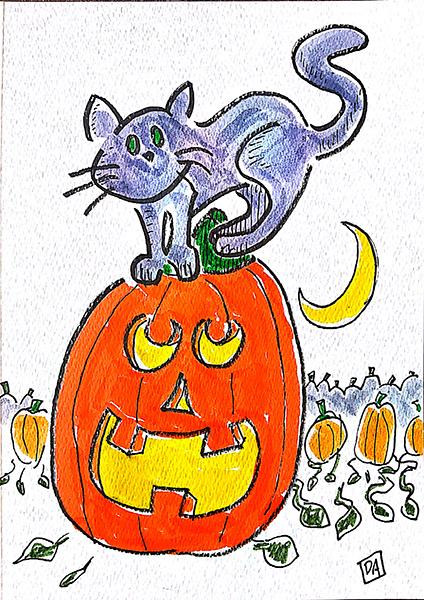pumpkin and cat2