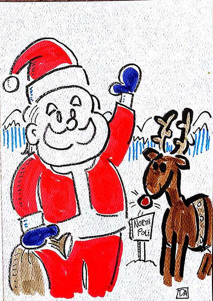 santa and reindeer1