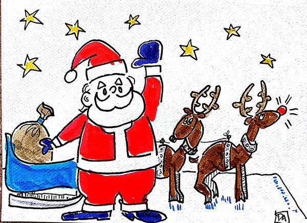 santa and reindeer2