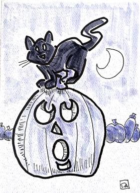 pumpkin and cat4