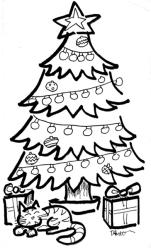 xmas tree with cat1