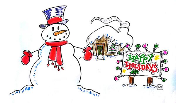 snowman ecard happy holidays1