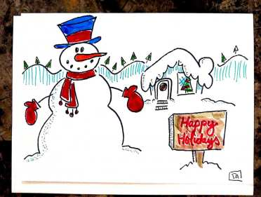 snowman and house1